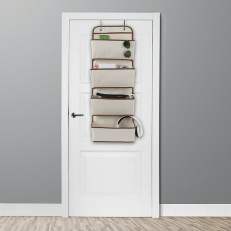 Over the Door Organizer-4 Pocket Hanging Storage Saves Space for Closet, Bedroom, Office-Store Books, Toys, Craft Supplies and More by Lavish Home ()