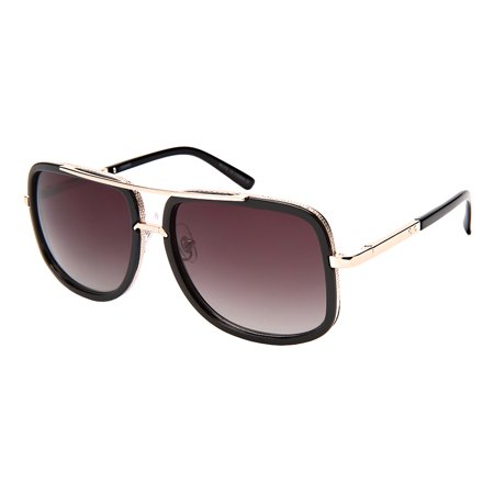 Edge I-Wear Square Retro Style Aviators with Gradient Lens (Wearing Aviators)