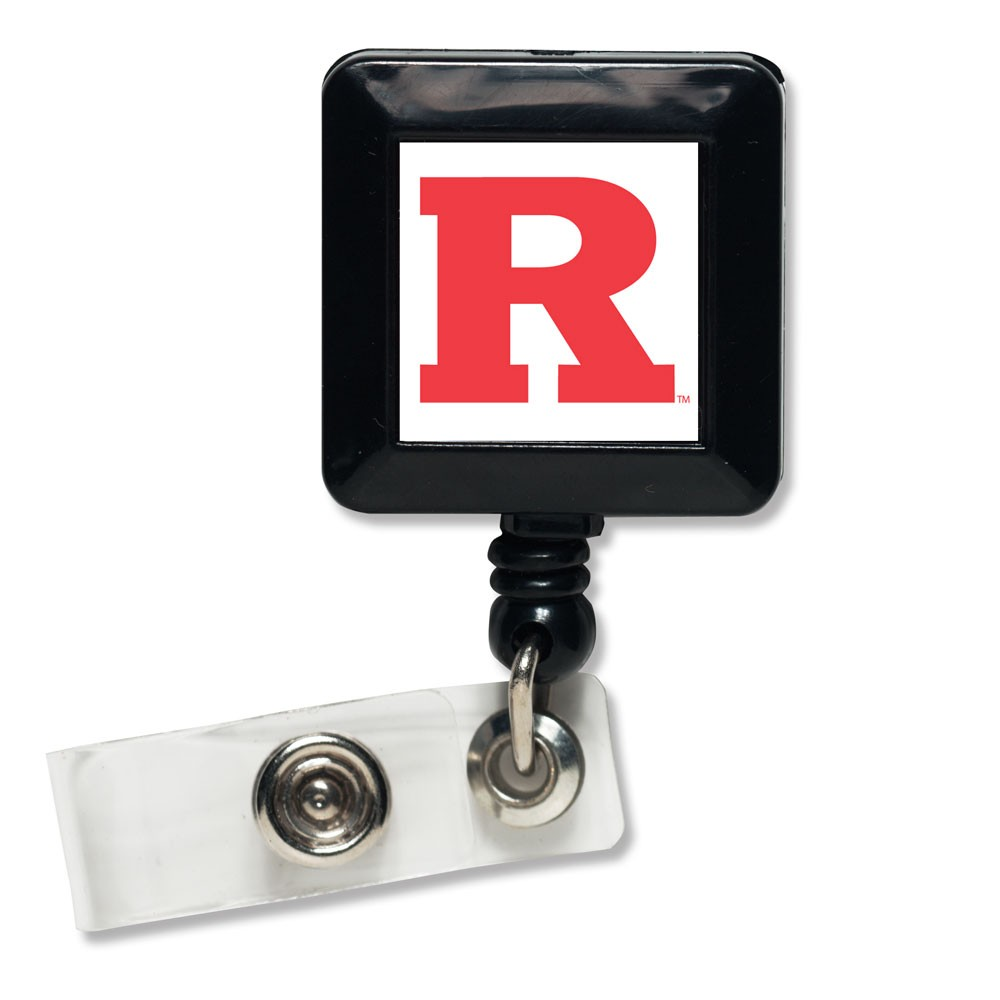 Rutgers Scarlet Knights Official NCAA 1 inch x 1 inch  Retractable Badge Holder Key Chain Keychain by WinCraft