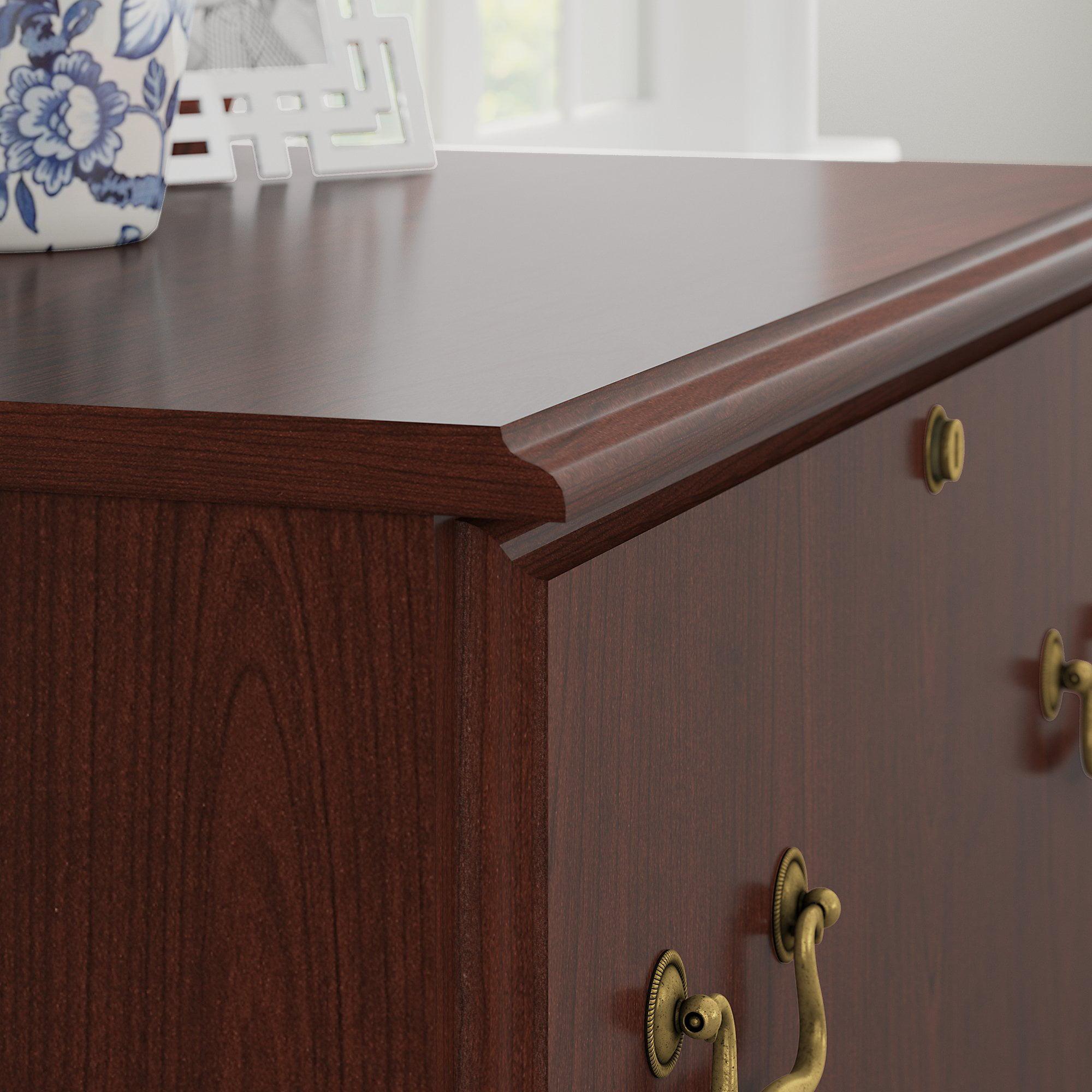 Bush Furniture Saratoga Lateral File Cabinet In Harvest Cherry Com