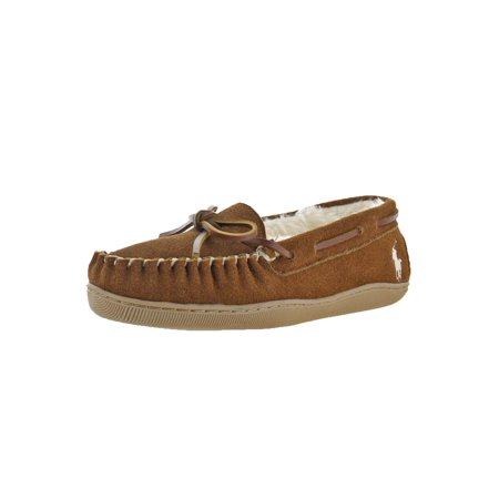 Polo Ralph Lauren Womens Charlie  Moc Toe Faux Fur Lined Moccasin - Pile Lined Moccasin