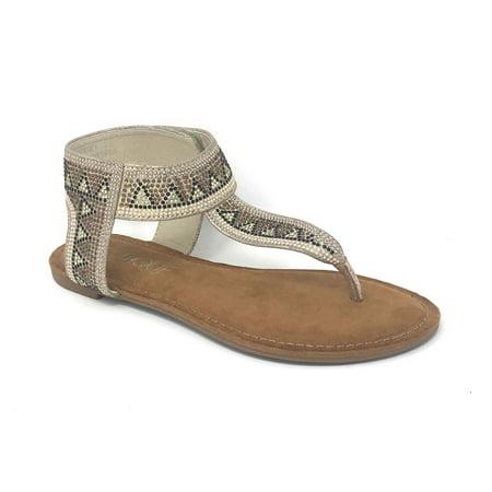 ae7242fafd1d5 Corkys - Corkys Nora Champagne Sandals - Walmart.com