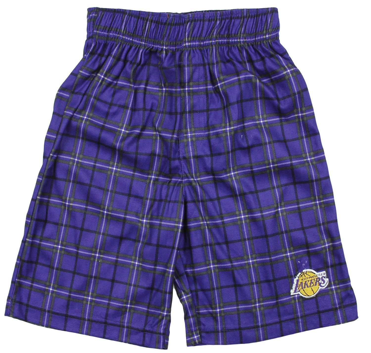 NBA Basketball Toddlers Los Angeles Lakers Plaid Boxer Shorts Purple by
