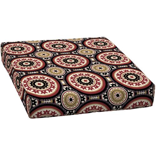 Deep Seat Pattern Outdoor Seat Cushion, Cantera Scarlet