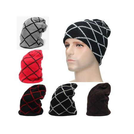 ecef75c26a7 Meigar Unisex Oversize Winter Caps Warm Wool Knit Ski Beanie Skull Slouchy  Hat for Men Women - Walmart.com