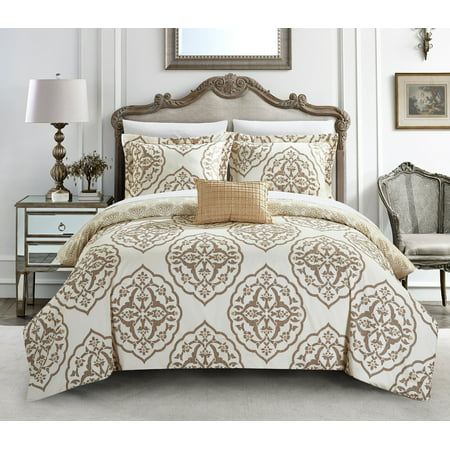 Chic Home Froilan 6 Piece Reversible Bed in a Bag Duvet Cover Set ()