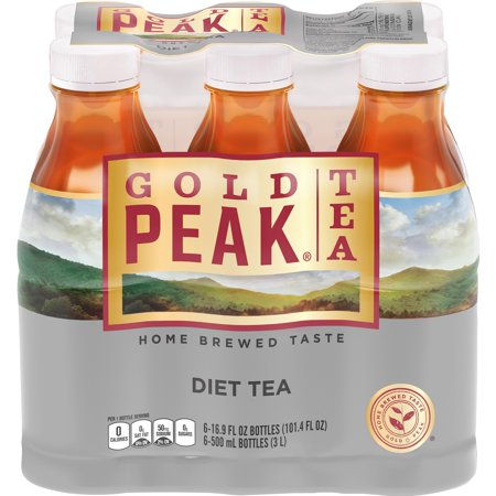 (2 Pack) Gold Peak Diet Iced Tea, 16.9 Fl Oz, 6 Count