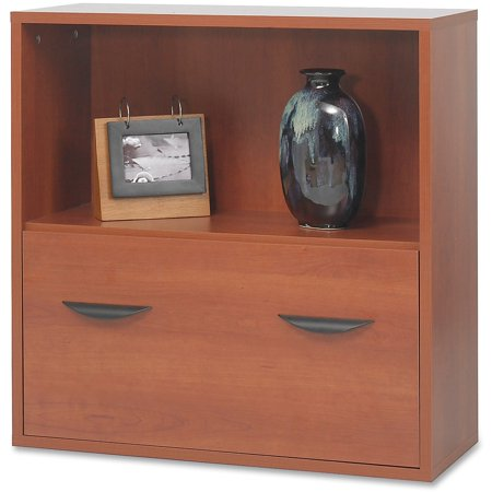 Safco 1 Drawers Lateral Filing Cabinet, Cherry