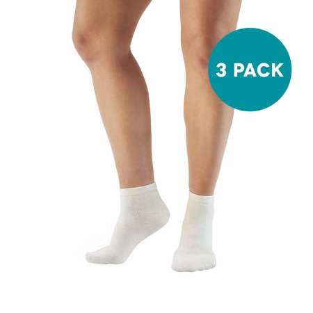 Ames Walker AW Style 141A Coolmax 8-15 Mild Compression Ankle Socks (3-Pack)   - Relieves tired aching and swollen legs - Symptoms of varicose veins - Keeps feet dry and