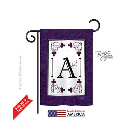 Breeze Decor 80001 Classic A Monogram 2-Sided Impression Garden Flag - 13 x 18.5 in. - image 1 de 1