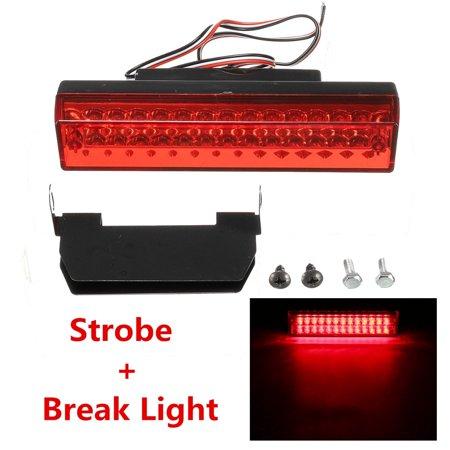 Universal Waterproof Car High Mount Light Brake Stop Warning Strobe Tail Lamp