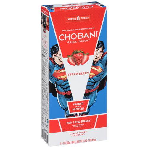 Chobani Low Fat Strawberry Greek Style Yogurt, 2 Oz., 8 Cups