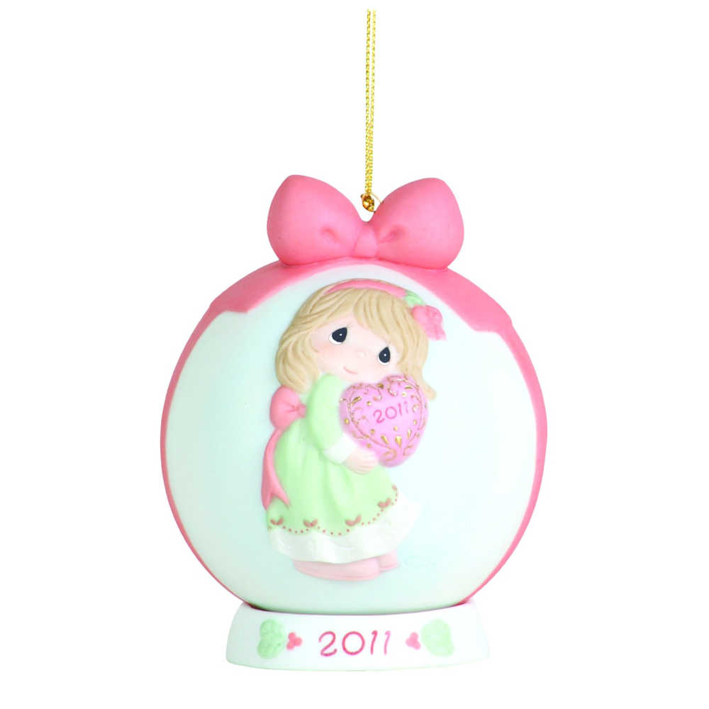 Precious Moments 111003 Love Is The Best Gift Of All Dated 2011 Ornament