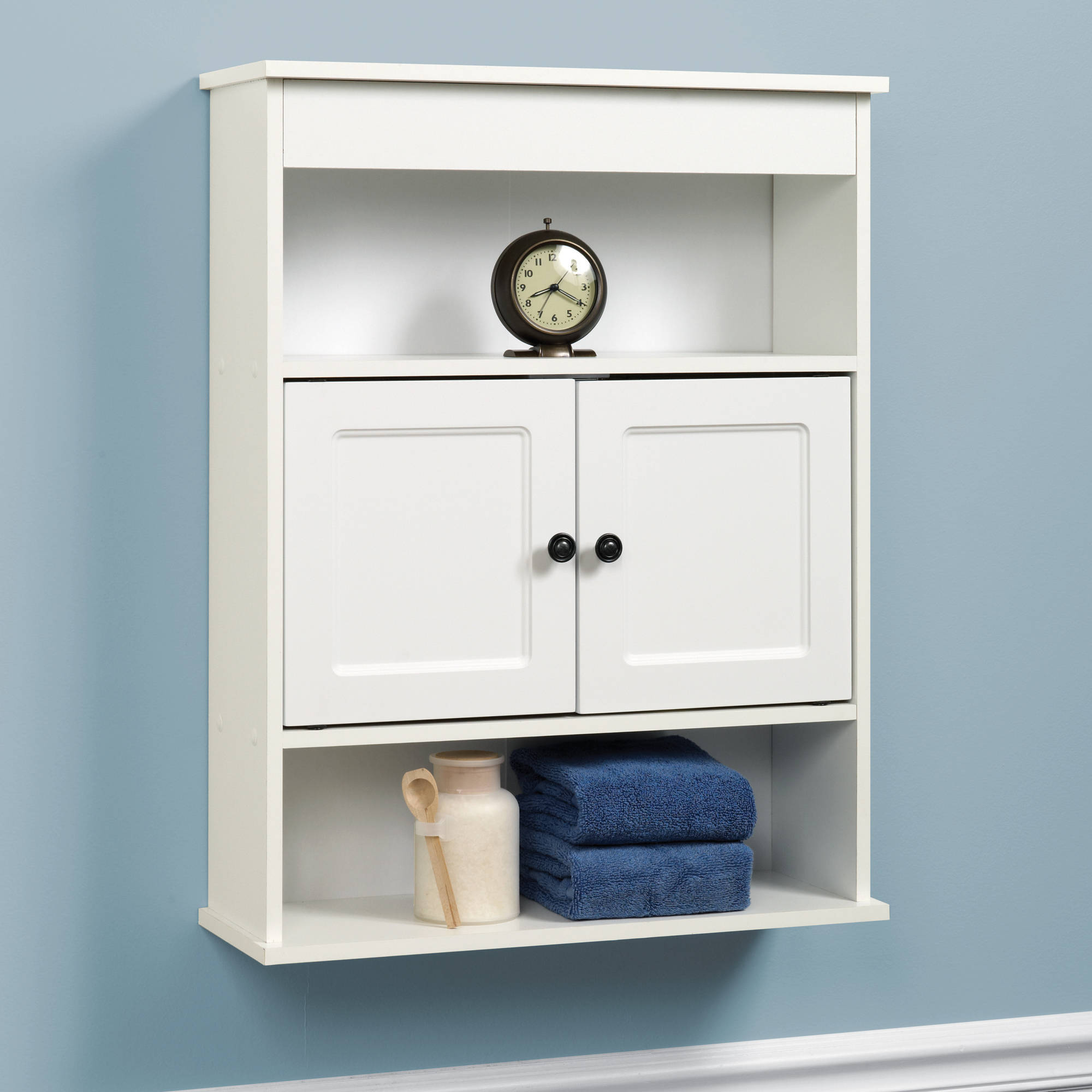 Cabinet wall bathroom storage white shelf organizer over for In wall bathroom storage