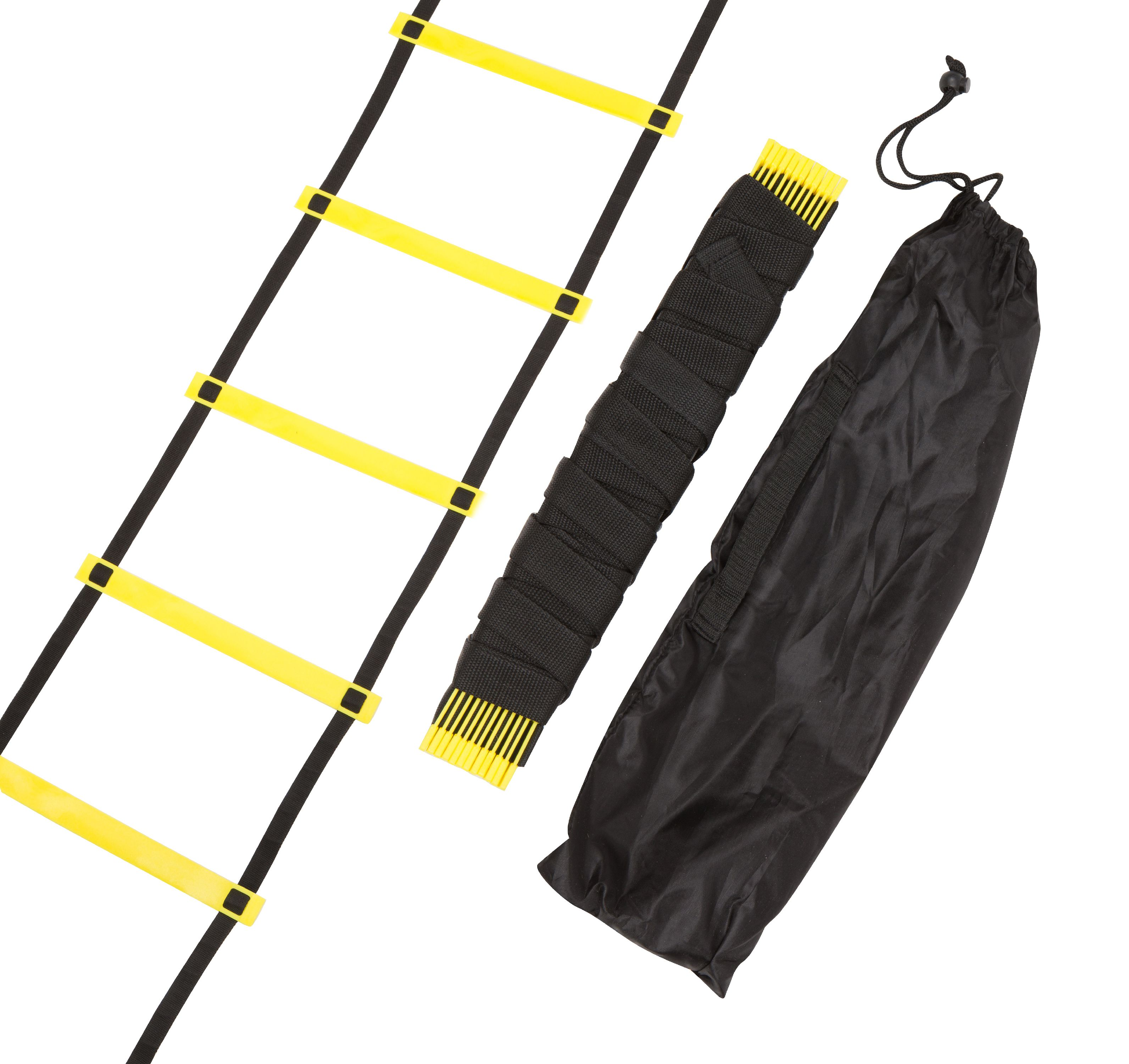 Agility Ladder - 12 Rungs Training Ladder By Trademark Innovations (Black and Yellow)