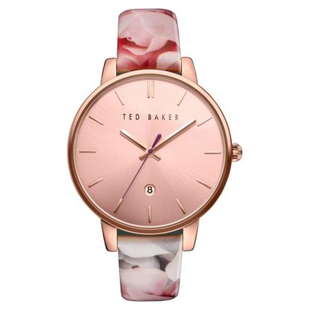 1926205ddf13 Ted Baker London - Kate Round Floral Print Leather Strap Analog ...