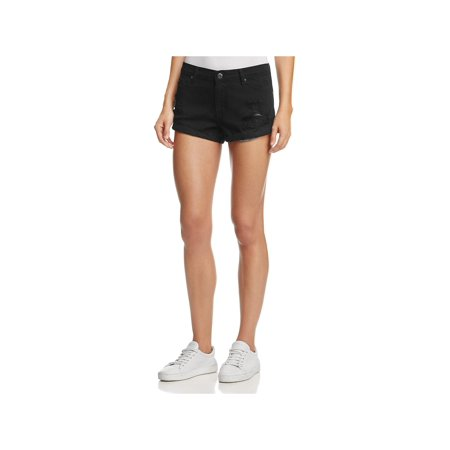 - pistola womens destroyed low rise denim shorts