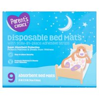 Parent's Choice Disposable Bed Mats, 9 Count