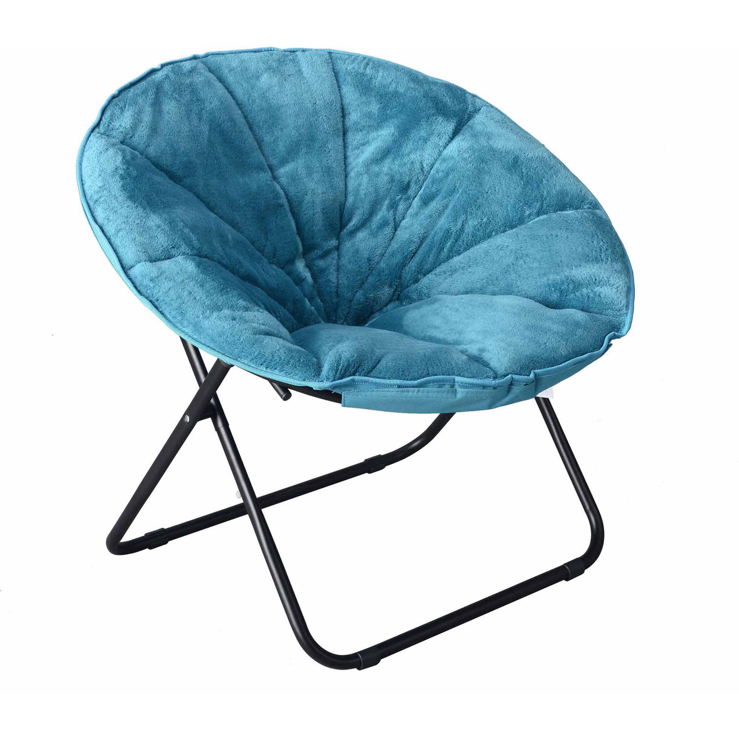 "Mainstays Plush Saucer Chair, Multiple Colors - 30""W x 26.4""D x 28""H"