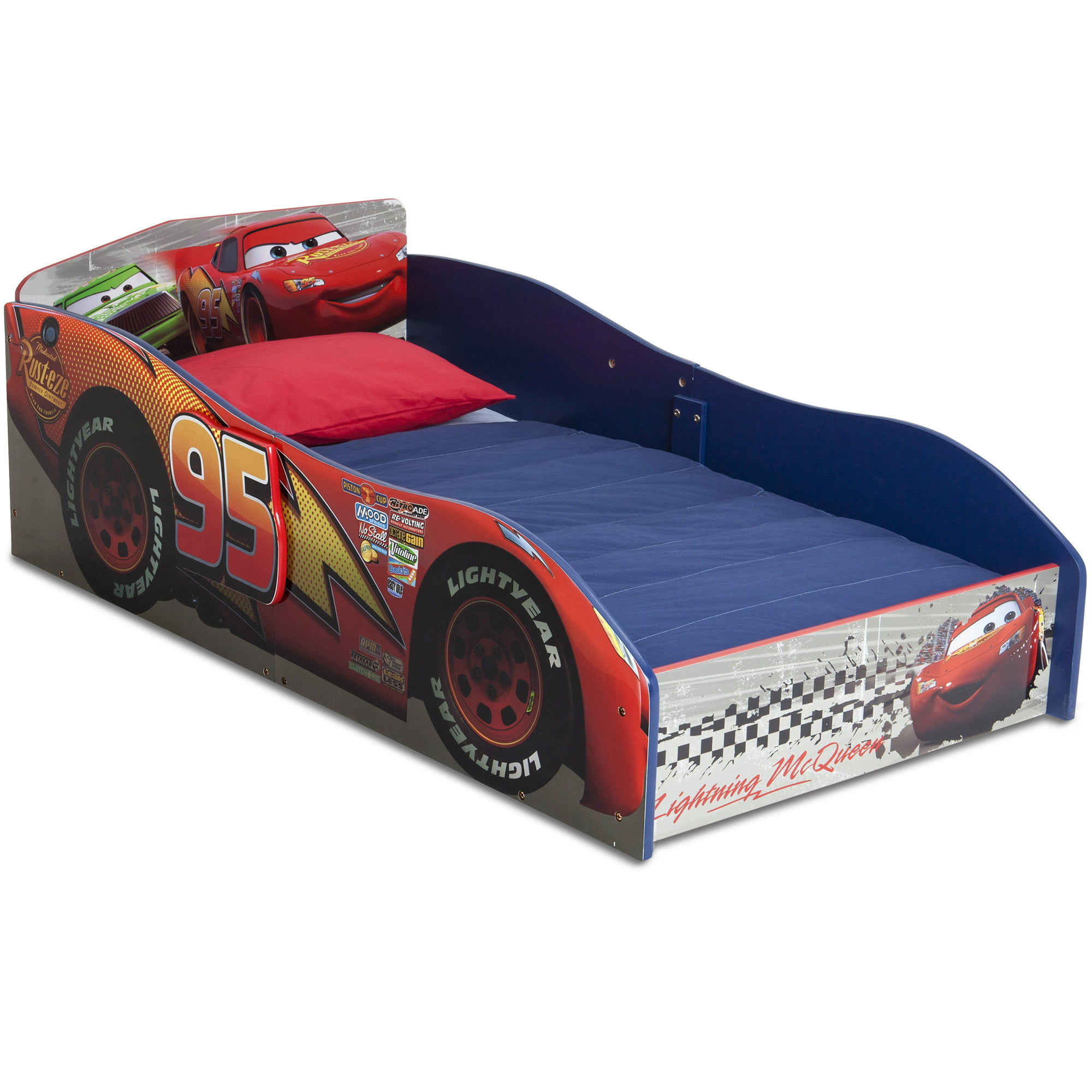 Delta Children Disney Pixar Cars Wooden Toddler Bed Red Walmart Com Walmart Com