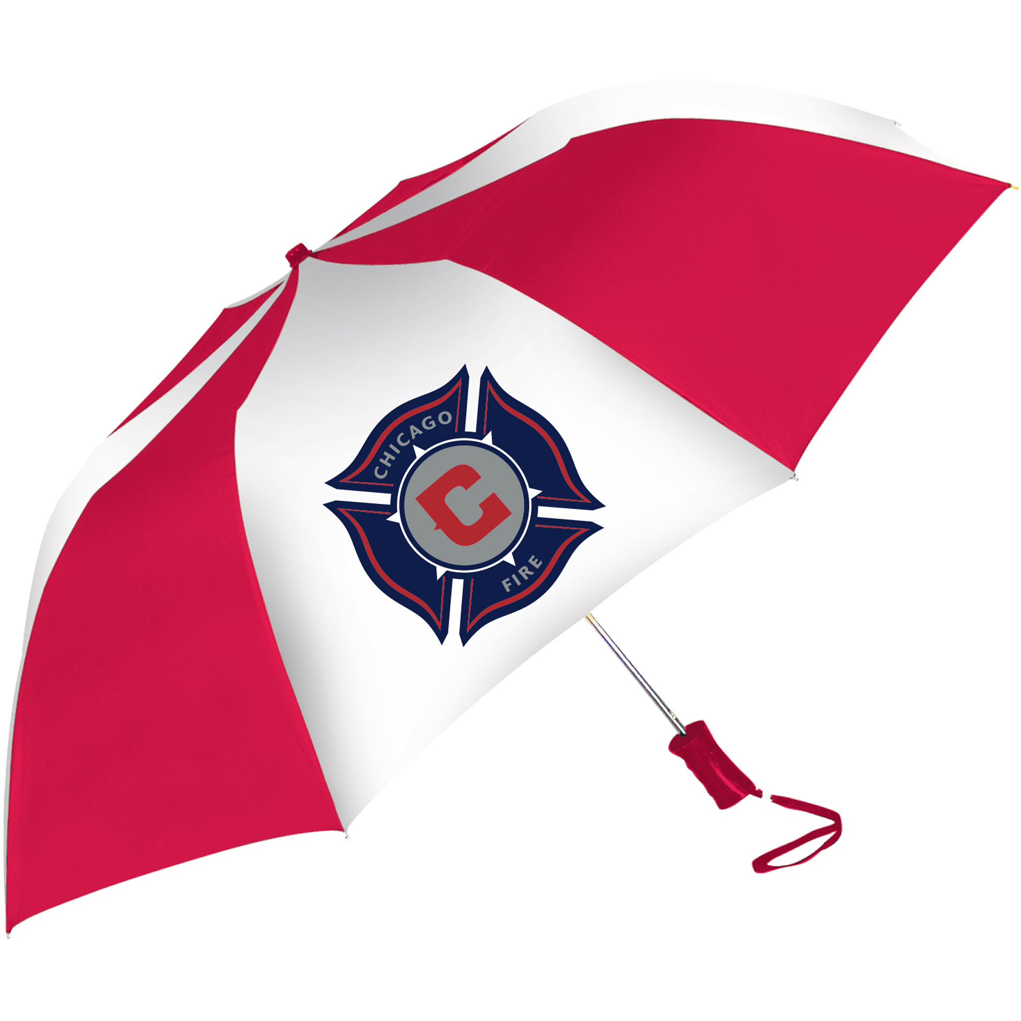 Chicago Fire Two-Tone Auto Sport Folding Umbrella - No Size