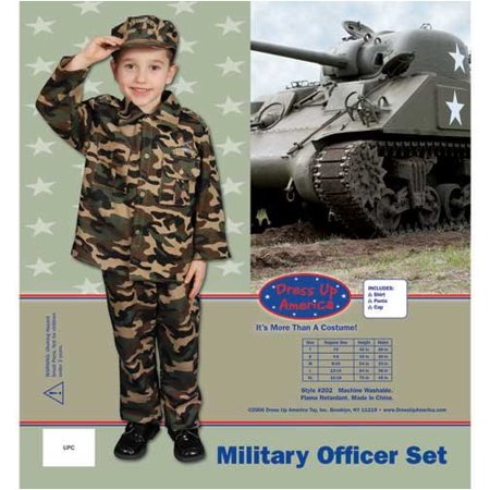 Dress Up America Deluxe Army Dress up Costume Set Large 12-14 202-L](Army Themed Dress Up)