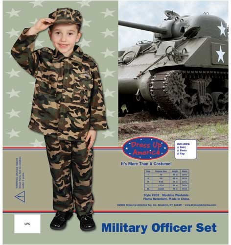 Dress Up America Deluxe Army Dress Up Children's Costume Set