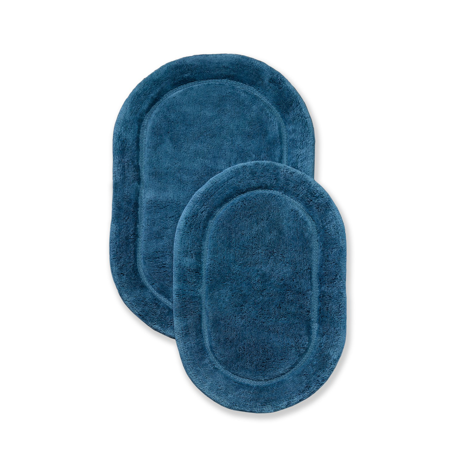 Superior Luxurious Cotton Non-Skid 2Pc Oval Bath Rug Set by Supplier Generic