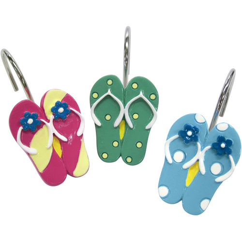 Sun and Sand Shower Curtain Hooks
