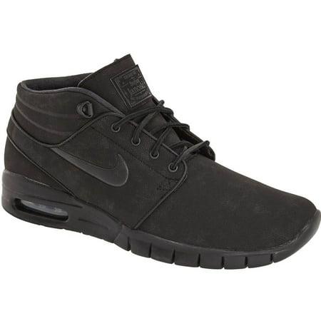 Nike Mens Stefan Janoski Max Mid L Black/Anthracite Leather Skateboarding  Shoes - Walmart.com