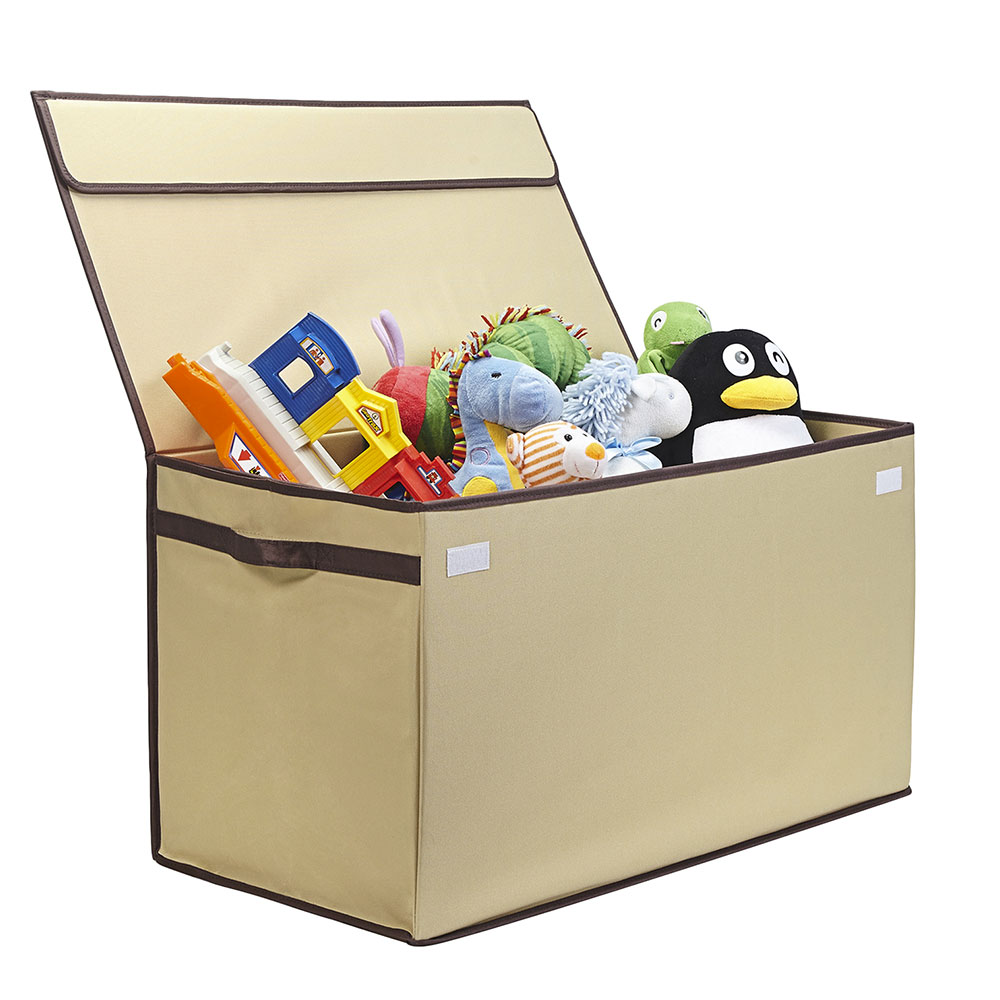 Kids Collapsible Toy Chest - Large - Ivory