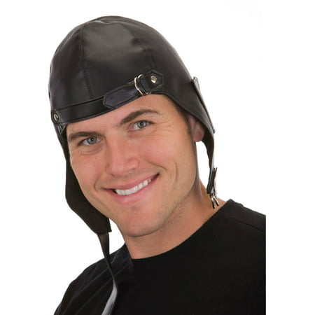 Steampunk Costume Black Aviator Hat Pilot Costume Accessory - Airplane Pilot Hat