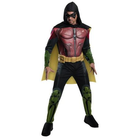 Adult Muscle Chest Robin Batman Costume by Rubies 884822 (Arkham City Robin Halloween Costume)