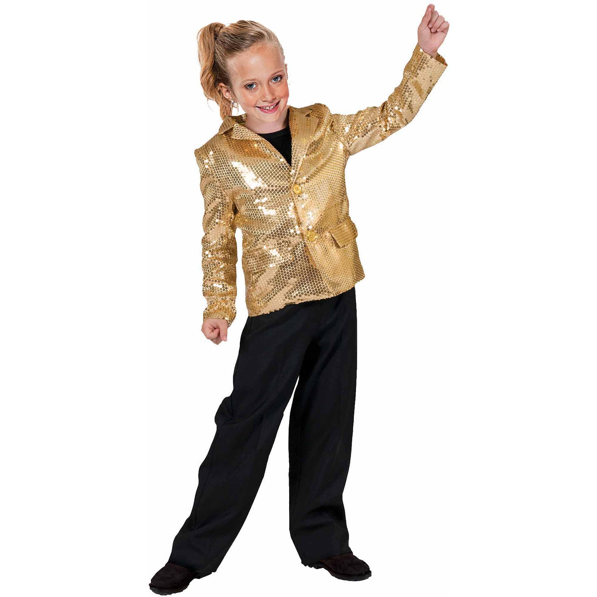 Gold Disco Jacket Child Halloween Costume