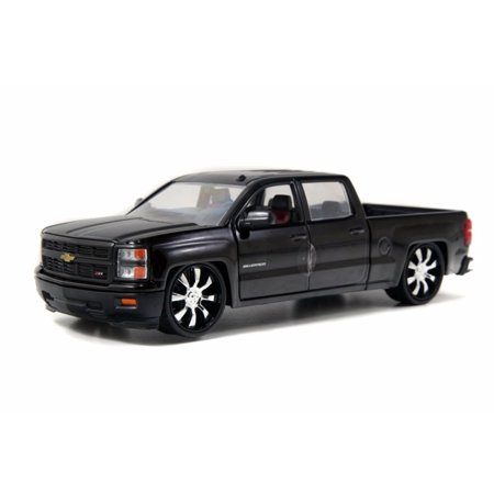 2014 Chevy Silverado Pickup, Black - Jada Toys 97027 - 1/24 scale Diecast Model Toy Car (Brand New, but NOT IN BOX) ()