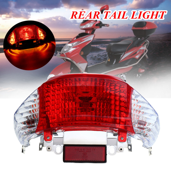 272086513554 SCOOTER REAR TAIL LIGHT FOR CHINESE TAOTAO SUNNY SCOOTER PARTS GY6 50