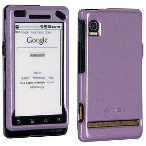 Premium Polished Purple Lilac Snap On Hard Shell Case for Motorola Milestone A854, Motorola Droid A855