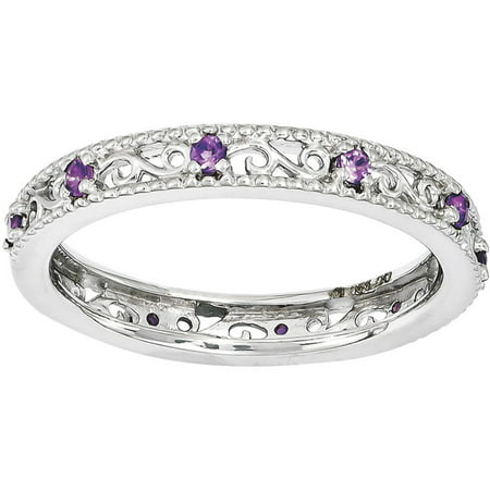 Amethyst Sterling Silver Ring (Cushion Ring Amethyst Ring)