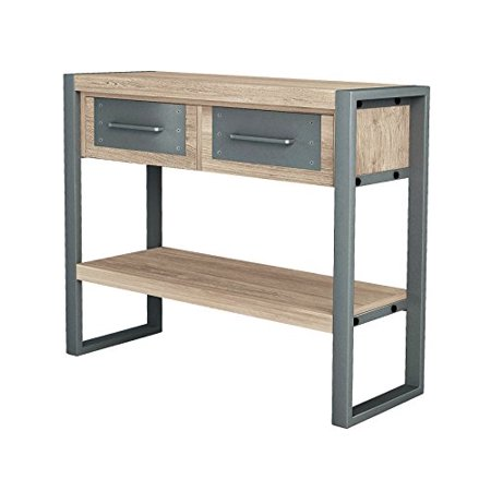 ASTA Teak and Iron Storage Console Table - Industrial Modern, TI-503 ()