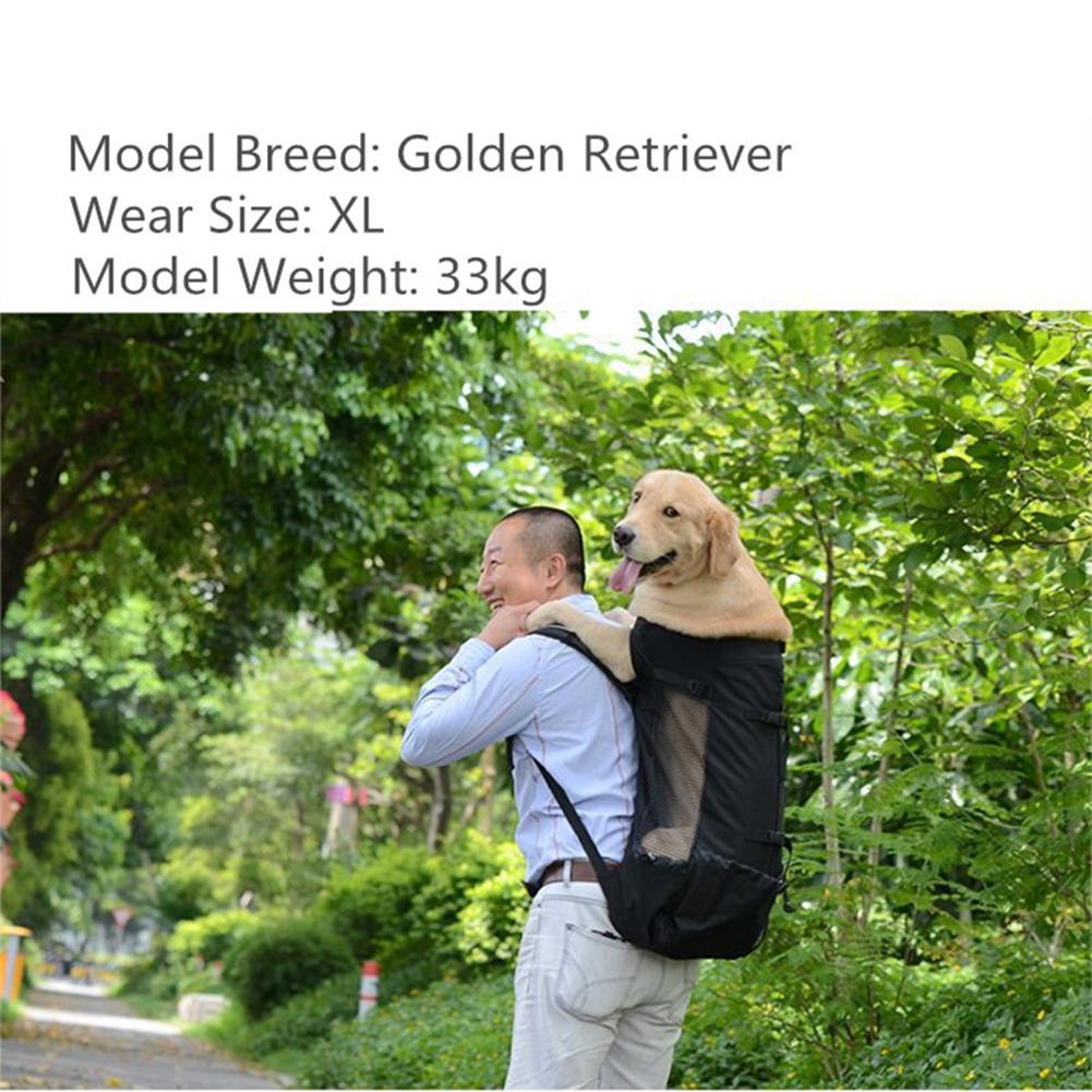 Dog Bag Carrier Pet Dog Backpack for Large Medium Small Dogs Breathable Travel Dog Bag for Riding Hiking - image 1 de 8
