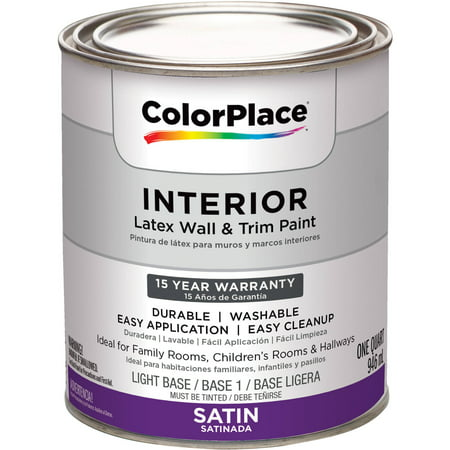 Colorplace Interior Satin Light Base Paint 1 Qt