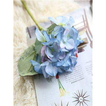 Artificial Silk Fake Flowers Hydrangea Floral Wedding Bouquet Party Decor E