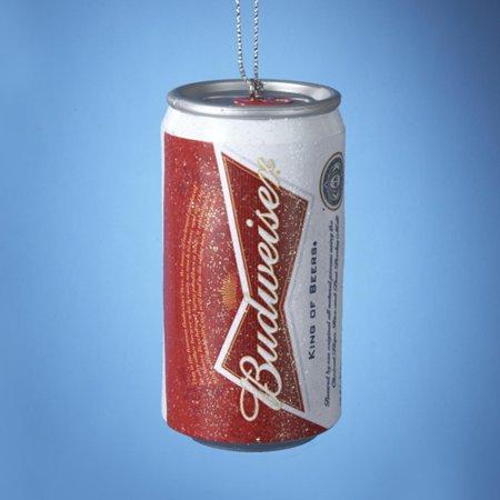 3  Anheuser Busch Budweiser Beer Can Blow Mold Christmas Ornament