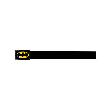 Shield Logo Belt Buckle - Batman DC Comics Superhero Metallic Yellow Shield Logo Web Belt