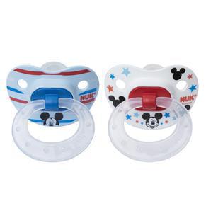pack of 2 Disney NUK baby 6-18m Orthodontic Pacifier NEW BLUE BOYS