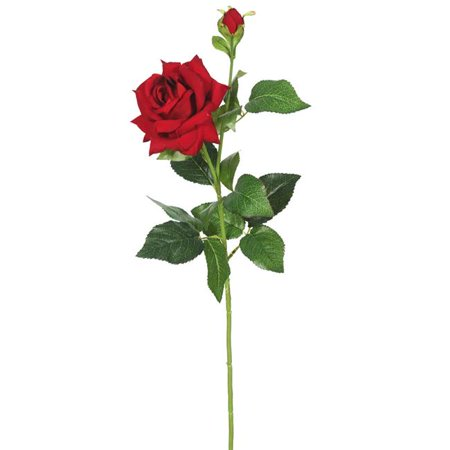 Vickerman FA174201 Velvet Rose X2 Floral Stem, Red - Pack of 3 - image 1 of 1