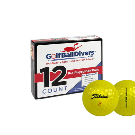 - Titleist DT Solo Golf Balls, Yellow, Used, Mint Quality, 36 Pack
