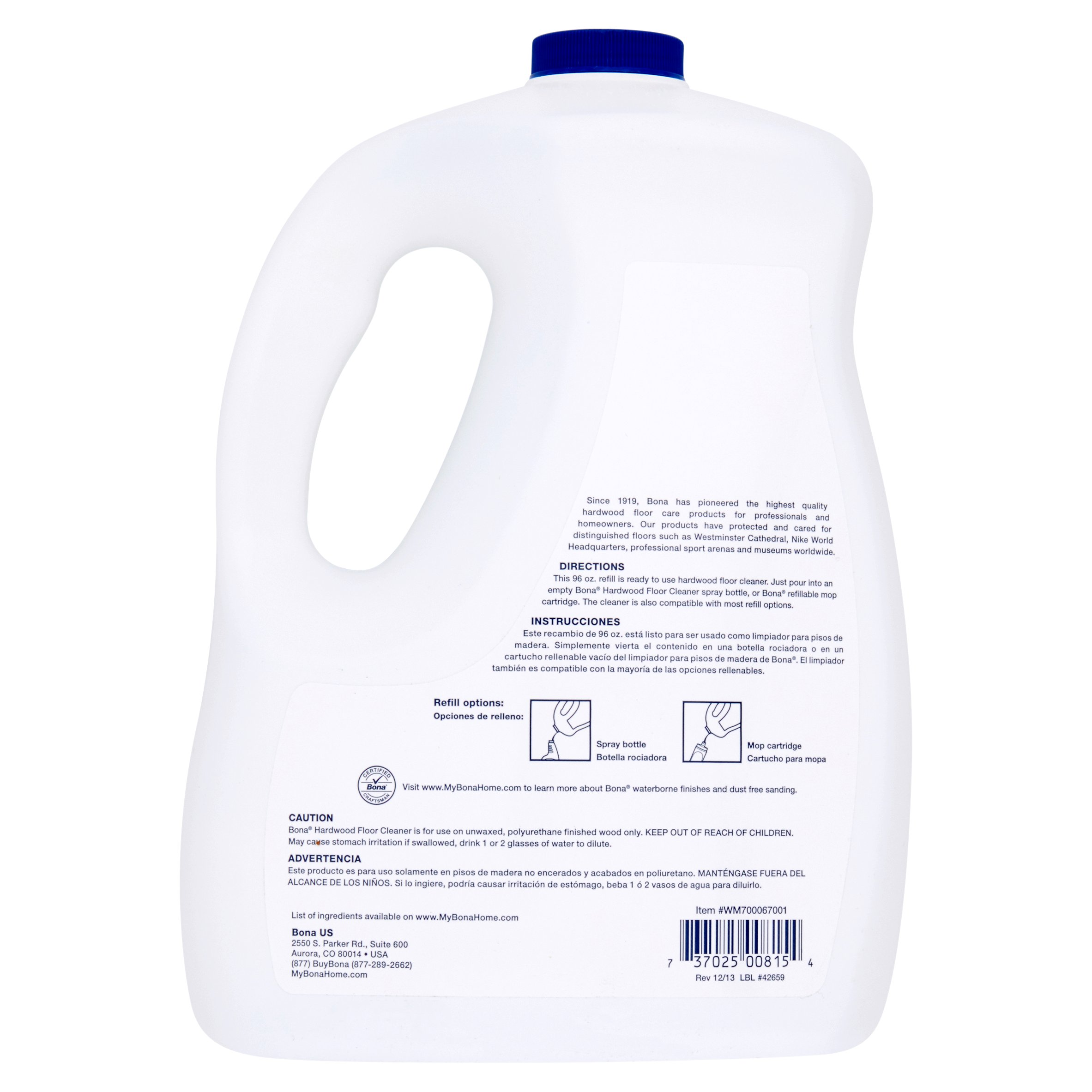 bona hardwood floor cleaner refill, 96 fl oz - walmart