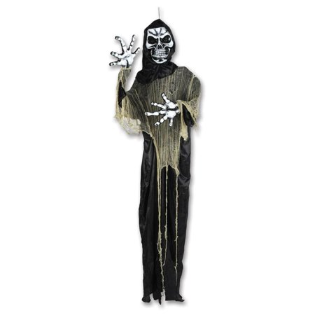 7.25' Posable Grim Reaper Creepy Creature Halloween Decoration - Creepy Halloween Clown