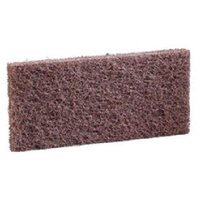Heavy-Duty Scour Pad, Brown - 4 x 10 in. - image 1 of 1